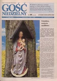 Gość Niedzielny, 1998, R. 71, nr 20