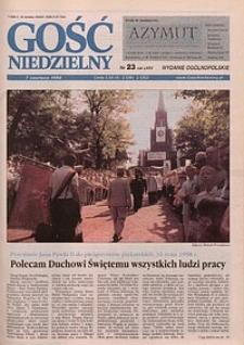 Gość Niedzielny, 1998, R. 75, nr 23