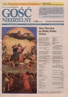 Gość Niedzielny, 1998, R. 71, nr 33
