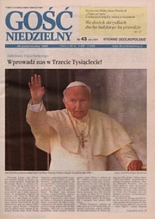 Gość Niedzielny, 1998, R. 75, nr 43