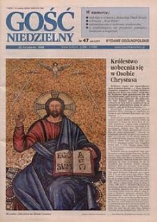 Gość Niedzielny, 1998, R. 75, nr 47