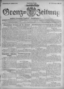 Oberschlesische Grenz-Zeitung, 1920, Jg. 48, Nr. 11