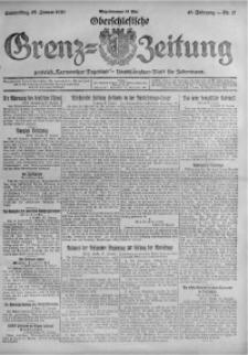 Oberschlesische Grenz-Zeitung, 1920, Jg. 48, Nr. 17