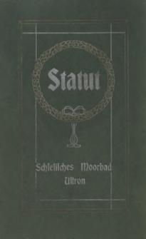 Statut des Schlesischen Moorbades in Ustron, 1909