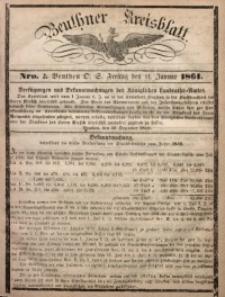 Beuthner Kreisblatt, 1861, Nro. 2