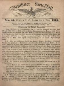 Beuthner Kreisblatt, 1861, Nro. 10