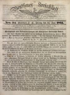 Beuthner Kreisblatt, 1861, Nro. 24