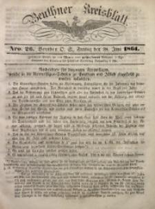 Beuthner Kreisblatt, 1861, Nro. 26