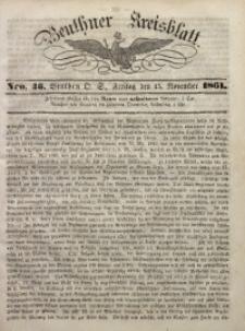 Beuthner Kreisblatt, 1861, Nro. 46