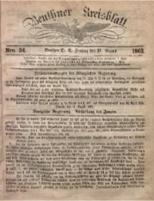 Beuthner Kreisblatt, 1863, Nro. 34