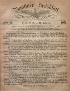 Beuthner Kreisblatt, 1863, Nro. 39