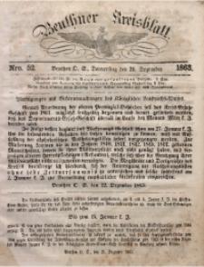 Beuthner Kreisblatt, 1863, Nro. 52