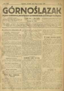 Górnoślązak, 1918, R. 17, Nr. 8