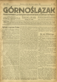 Górnoślązak, 1918, R. 17, Nr. 299