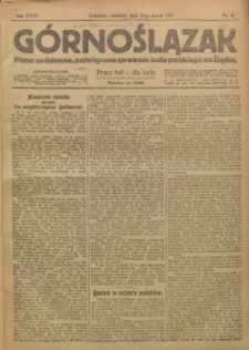 Górnoślązak, 1919, R. 18, Nr. 51