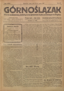 Górnoślązak, 1919, R. 18, Nr. 67
