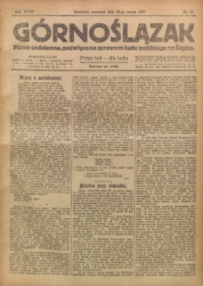 Górnoślązak, 1919, R. 18, Nr. 72