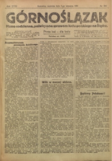 Górnoślązak, 1919, R. 18, Nr. 203