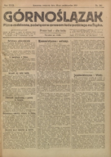 Górnoślązak, 1919, R. 18, Nr. 242