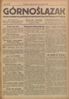 Górnoślązak, 1919, R. 18, Nr. 281