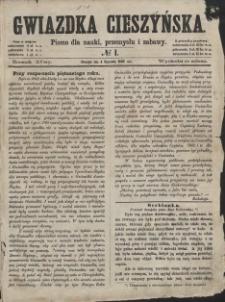 Gwiazdka Cieszyńska, 1862, Nry 1-52