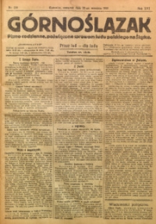 Górnoślązak, 1920, R. 14, Nr. 218