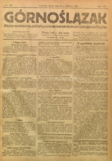 Górnoślązak, 1920, R. 14, Nr. 288