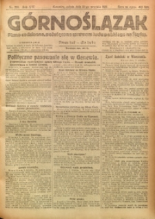 Górnoślązak, 1921, R. 17, Nr. 208