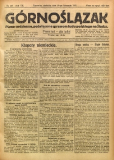 Górnoślązak, 1921, R. 17, Nr. 267