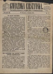 Gwiazdka Cieszyńska, 1891, Nry 1-12, 15-37, 39-52