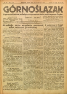 Górnoślązak, 1922, R. 21, Nr. 90