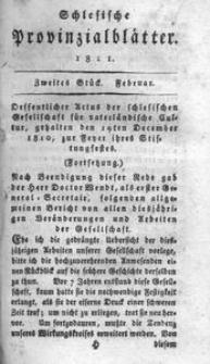 Schlesische Provinzialblätter, 1811, 53. Bd., 2. St.: Februar