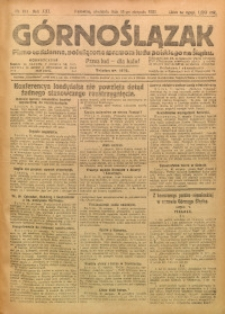 Górnoślązak, 1922, R. 21, Nr. 184