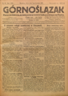 Górnoślązak, 1923, R. 22, Nr. 78