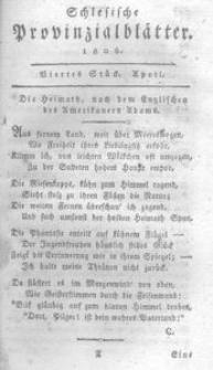 Schlesische Provinzialblätter, 1806, 43. Bd., 4. St.: April