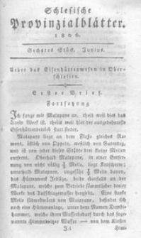 Schlesische Provinzialblätter, 1806, 43. Bd., 6. St.: Junius