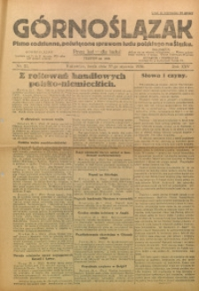 Górnoślązak, 1926, R. 25, Nr. 21