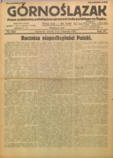 Górnoślązak, 1928, R. 27, Nr. 263