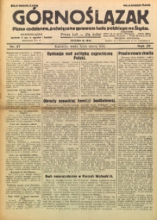 Górnoślązak, 1930, R. 29, Nr. 47