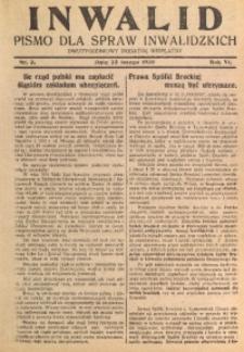 Inwalid, 1930, R. 6, Nr. 3