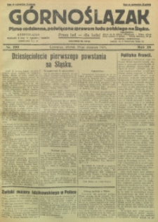 Górnoślązak, 1929, R. 28, Nr. 190