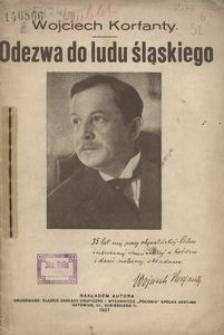 Odezwa Wojciecha Korfantego do ludu śląskiego