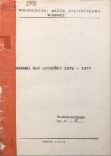 Usługi dla ludności 1976-1977