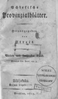 Schlesische Provinzialblätter, 1813, 57. Bd., 1. St.: Januar