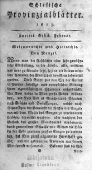Schlesische Provinzialblätter, 1813, 57. Bd., 2. St.: Februar
