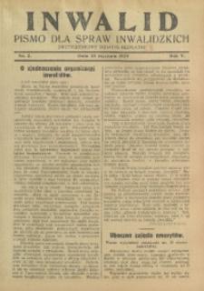 Inwalid, 1929, R. 5, Nr. 2