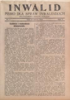 Inwalid, 1929, R. 5, Nr. 5