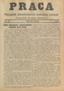 Praca, 1929, Nr. 10