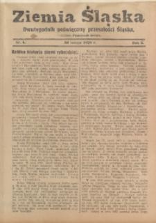 Ziemia Śląska, 1929, R. 3, nr 4