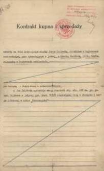 Kontrakt kupna sprzedaży zawarty w Tarnopolu w dniu 10.11.1931 r.